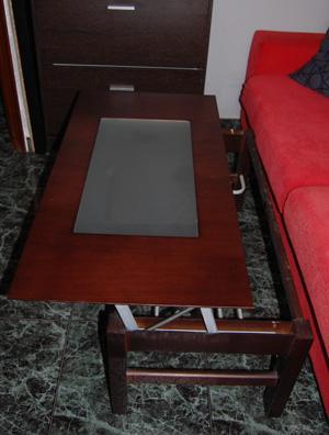 Composición de Mueble,2 Mesitas,Espejo,2 Estanterias 3