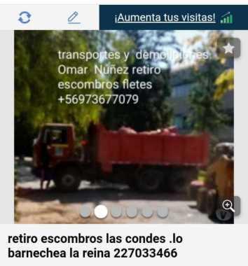 Retiro escombros en Chicureo 973677079 fletes mudanzas 5